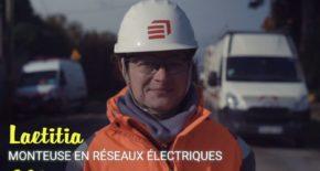 Laetitia monteur de réseaux électriques